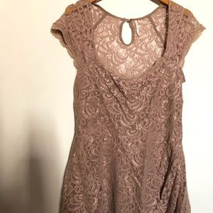 Free People tiered lace dress NWT